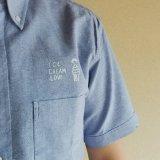 【ICE CREAM LOVE】オックスフォードショートスリーブシャツ_OXブルー