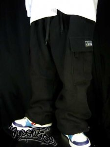 【 PRO CLUB プロクラブ 】 HEAVY CARGO SWEAT PANT(BLACK)