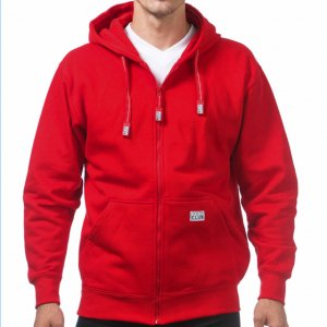 【 PRO CLUB プロクラブ 】 ジップパーカー ZIP-UP HEAVY HOODIE(RED)