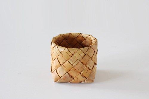 フィンランドの白樺かご 円筒(1299)