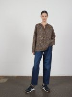 6397 PEASANT SHIRTS IN NAVY FLORAL