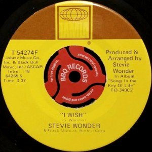 STEVIE WONDER - I WISH / YOU AND I (7) (VG)