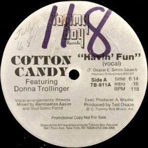 COTTON CANDY feat. DONNA TROLLINGER - HAVIN' FUN (12) (VG+)