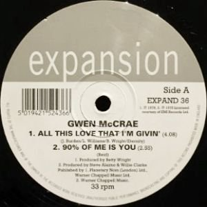 GWEN McCRAE - I CAN ONLY THINK OF YOU / 90% OF ME IS YOU (12) (VG+/VG)