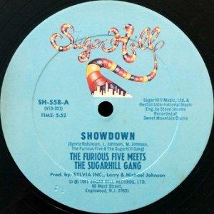 THE FURIOUS FIVE MEETS THE SUGARHILL GANG - SHOWDOWN (12) (VG+)