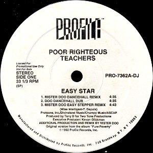 POOR RIGHTEOUS TEACHERS - EASY STAR (12) (PROMO) (VG+/VG+)
