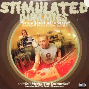 STIMULATED DUMMIES - STIMULATED ALL-STARS / DEL MEETS THE DUMMIES (12) (VG+/VG)