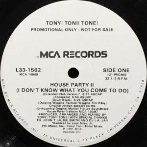TONY! TONI! TONE!  - HOUSE PARTY II (12) (PROMO) (EX/EX)