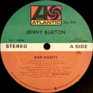 JENNY BURTON - BAD HABITS (12) (G)