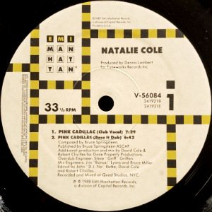 NATALIE COLE - PINK CADILLAC / I WANNA BE THAT WOMAN (12) (EX/VG+)