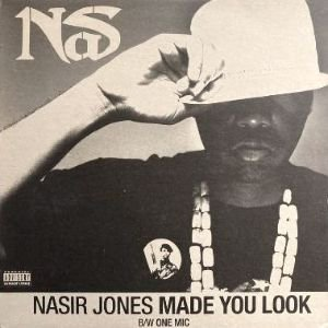 NAS - MADE YOU LOOK / ONE MIC (12) (UK) (VG+/VG+)