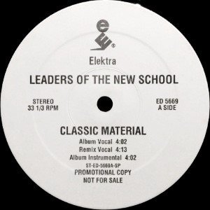 LEADERS OF THE NEW SCHOOL - CLASSIC MATERIAL (12) (PROMO) (VG+)