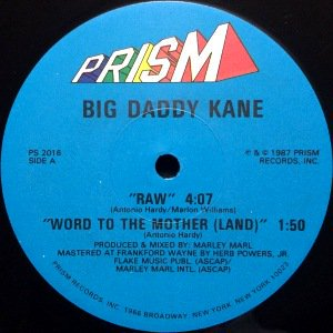 BIG DADDY KANE - RAW / WORD TO THE MOTHER (12) (VG)