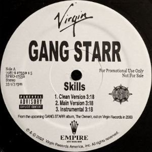 <img class='new_mark_img1' src='https://img.shop-pro.jp/img/new/icons3.gif' style='border:none;display:inline;margin:0px;padding:0px;width:auto;' />GANG STARR - SKILLS / NATURAL (12) (PROMO) (VG+)