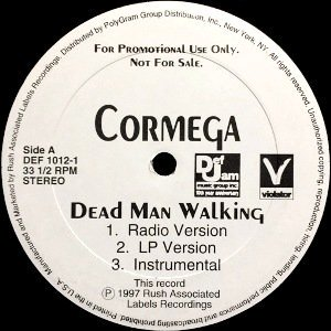 <img class='new_mark_img1' src='https://img.shop-pro.jp/img/new/icons3.gif' style='border:none;display:inline;margin:0px;padding:0px;width:auto;' />CORMEGA - DEAD MAN WALKING (12) (PROMO) (VG+/VG+)