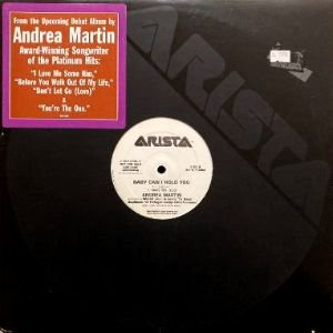 <img class='new_mark_img1' src='https://img.shop-pro.jp/img/new/icons3.gif' style='border:none;display:inline;margin:0px;padding:0px;width:auto;' />ANDREA MARTIN - BABY CAN I HOLD YOU (12) (PROMO) (VG+/VG+)