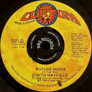 <img class='new_mark_img1' src='https://img.shop-pro.jp/img/new/icons3.gif' style='border:none;display:inline;margin:0px;padding:0px;width:auto;' />CURTIS MAYFIELD - FUTURE SHOCK / THE OTHER SIDE OF TOWN (7) (EX)