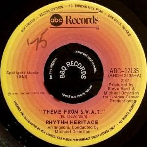 RHYTHM HERITAGE - THEME FROM S.W.A.T. / I WOULDN'T TREAT A DOG (7) (VG+)
