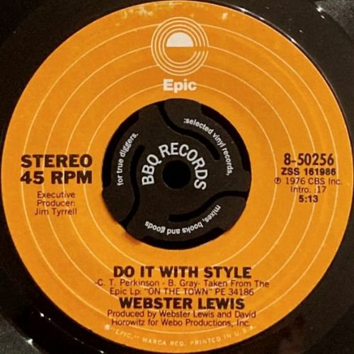 WEBSTER LEWIS - THEME / DO IT WITH STYLE (7) (VG+)