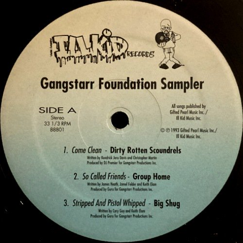 <img class='new_mark_img1' src='https://img.shop-pro.jp/img/new/icons3.gif' style='border:none;display:inline;margin:0px;padding:0px;width:auto;' />GANG STARR FOUNDATION - GANGSTARR FOUNDATION SAMPLER (12) (VG+)