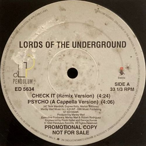 LORDS OF THE UNDERGROUND - CHECK IT (12) (PROMO) (VG+)