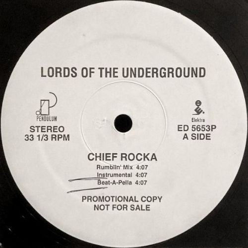 LORDS OF THE UNDERGROUND - CHIEF ROCKA (12) (PROMO) (VG+)