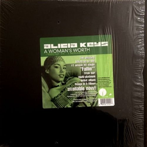ALICIA KEYS - A WOMAN'S WORTH (12) (PROMO) (VG+/EX)