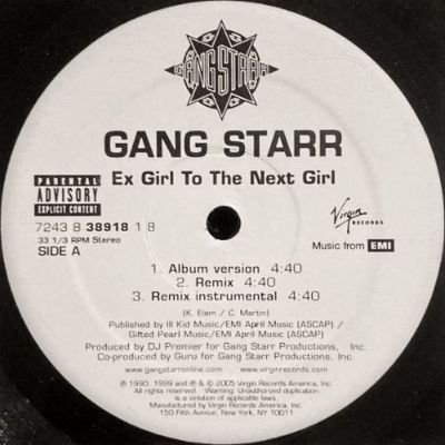 <img class='new_mark_img1' src='https://img.shop-pro.jp/img/new/icons3.gif' style='border:none;display:inline;margin:0px;padding:0px;width:auto;' />GANG STARR - EX GIRL TO NEXT GIRL (12) (RE) (VG+)