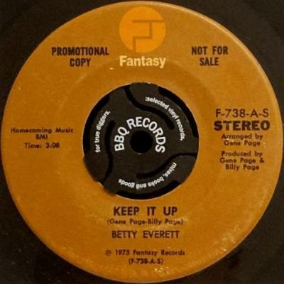 BETTY EVERETT - KEEP IT UP (7) (PROMO) (EX)