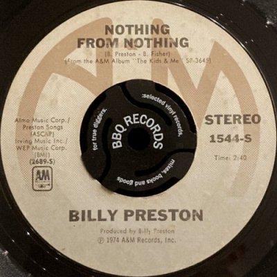 BILLY PRESTON - NOTHING FROM NOTHING (7) (VG/VG+)
