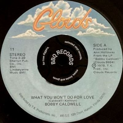 <img class='new_mark_img1' src='https://img.shop-pro.jp/img/new/icons3.gif' style='border:none;display:inline;margin:0px;padding:0px;width:auto;' />BOBBY CALDWELL - WHAT YOU WON'T DO FOR LOVE (7) (VG+)