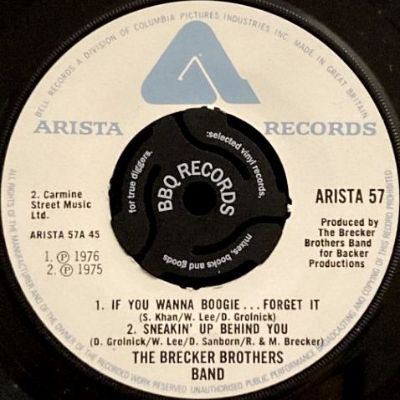 THE BRECKER BROTHERS BAND - IF YOU WANNA BOOGIE … FORGET  (7) (EX)