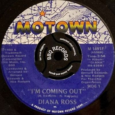 <img class='new_mark_img1' src='https://img.shop-pro.jp/img/new/icons3.gif' style='border:none;display:inline;margin:0px;padding:0px;width:auto;' />DIANA ROSS - I'M COMMING OUT / GIVE UP (7) (VG+)