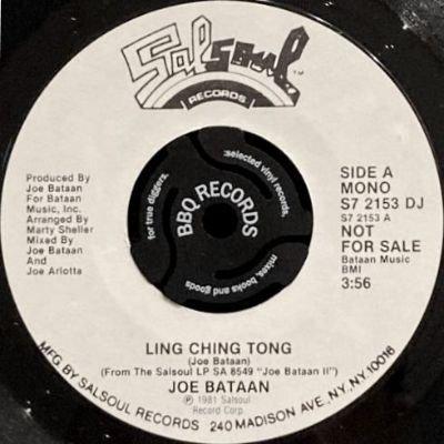 JOE BATAAN - LING CHING TONG (7) (PROMO) (VG+)