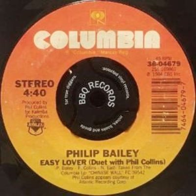PHILIP BAILEY DUET WITH PHIL COLLINS - EASY LOVER (7) (VG)