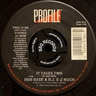 ROB BASE & D.J. E-Z ROCK - IT TAKES TWO (7) (VG+)
