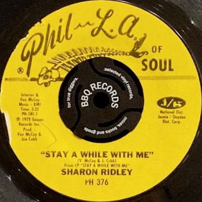 <img class='new_mark_img1' src='https://img.shop-pro.jp/img/new/icons3.gif' style='border:none;display:inline;margin:0px;padding:0px;width:auto;' />MS. SHARON RIDLEY - STAY A WHILE WITH ME (7) (VG+)