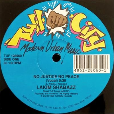 <img class='new_mark_img1' src='https://img.shop-pro.jp/img/new/icons3.gif' style='border:none;display:inline;margin:0px;padding:0px;width:auto;' />LAKIM SHABAZZ - NO JUSTICE NO PEACE (12) (EX/VG+)