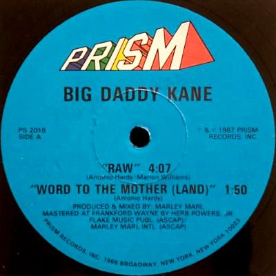 <img class='new_mark_img1' src='https://img.shop-pro.jp/img/new/icons3.gif' style='border:none;display:inline;margin:0px;padding:0px;width:auto;' />BIG DADDY KANE - RAW / WORD TO THE MOTHER (12) (VG+/VG+)