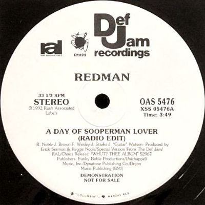 REDMAN - A DAY OF SOOPERMAN LOVER (12) (PROMO) (VG+)