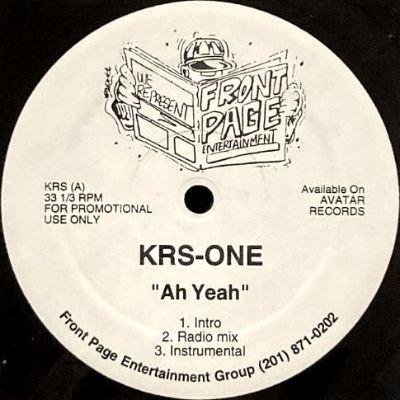 KRS ONE - AH YEAH (12) (PROMO) (EX)