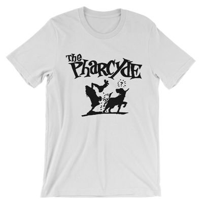 <img class='new_mark_img1' src='https://img.shop-pro.jp/img/new/icons3.gif' style='border:none;display:inline;margin:0px;padding:0px;width:auto;' />B-SIDE BUTTONS & SHIRTS - THE PHARCYDE T-SHIRT (WHITE) (NEW)