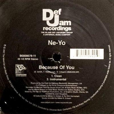 NE-YO - BECAUSE OF YOU (12) (EX/EX)