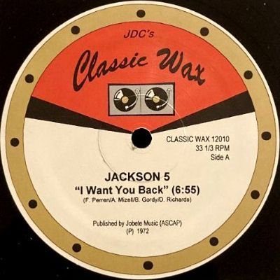 THE JACKSON 5 / SHANICE - I WANT YOU BACK / I LOVE YOUR SMILE (12) (RE) (VG+)