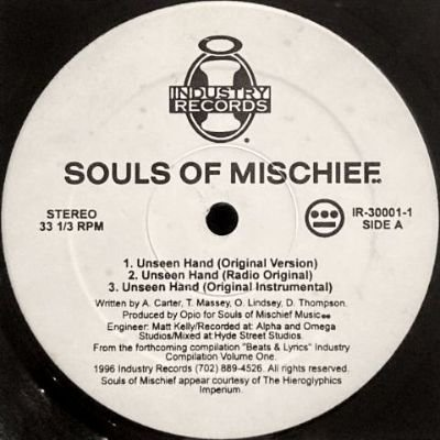 <img class='new_mark_img1' src='https://img.shop-pro.jp/img/new/icons3.gif' style='border:none;display:inline;margin:0px;padding:0px;width:auto;' />SOULS OF MISCHIEF - UNSEEN HAND (12) (VG+)