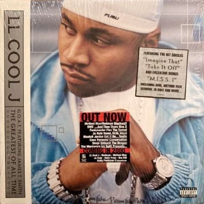 <img class='new_mark_img1' src='https://img.shop-pro.jp/img/new/icons3.gif' style='border:none;display:inline;margin:0px;padding:0px;width:auto;' />LL COOL J - G.O.A.T FEATURING JAMES T. SMITH THE GREATEST OF ALL TIME (LP) (VG+/EX)