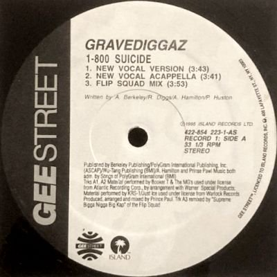 <img class='new_mark_img1' src='https://img.shop-pro.jp/img/new/icons3.gif' style='border:none;display:inline;margin:0px;padding:0px;width:auto;' />GRAVEDIGGAZ - DOUBLE SUICIDE PACK (12) (VG+)