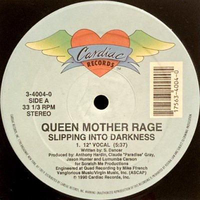 <img class='new_mark_img1' src='https://img.shop-pro.jp/img/new/icons3.gif' style='border:none;display:inline;margin:0px;padding:0px;width:auto;' />QUEEN MOTHER RAGE - SLIPPING INTO DARKNESS (12) (VG+/VG+)