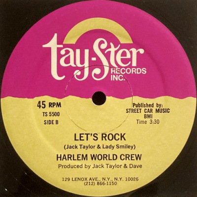 <img class='new_mark_img1' src='https://img.shop-pro.jp/img/new/icons3.gif' style='border:none;display:inline;margin:0px;padding:0px;width:auto;' />HARLEM WORLD CREW - LET'S ROCK (12) (VG+/G)