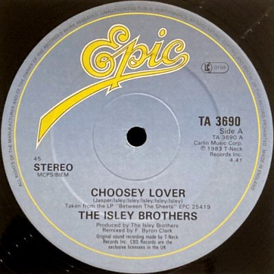 <img class='new_mark_img1' src='https://img.shop-pro.jp/img/new/icons3.gif' style='border:none;display:inline;margin:0px;padding:0px;width:auto;' />THE ISLEY BROTHERS - CHOOSEY LOVER (12) (VG/VG+)
